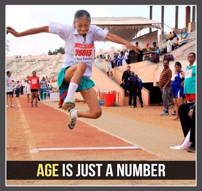 Funny Pictures, Jokes and Gifs / Animations: Age is Just a Number A Old Lady Doing Long Jump