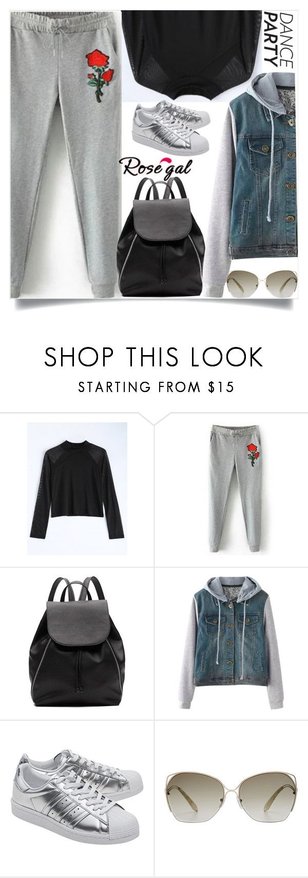 """Rosegal  54"" by dzenanlevic99 ❤ liked on Polyvore featuring Witchery, adidas Originals and Victoria Beckham"