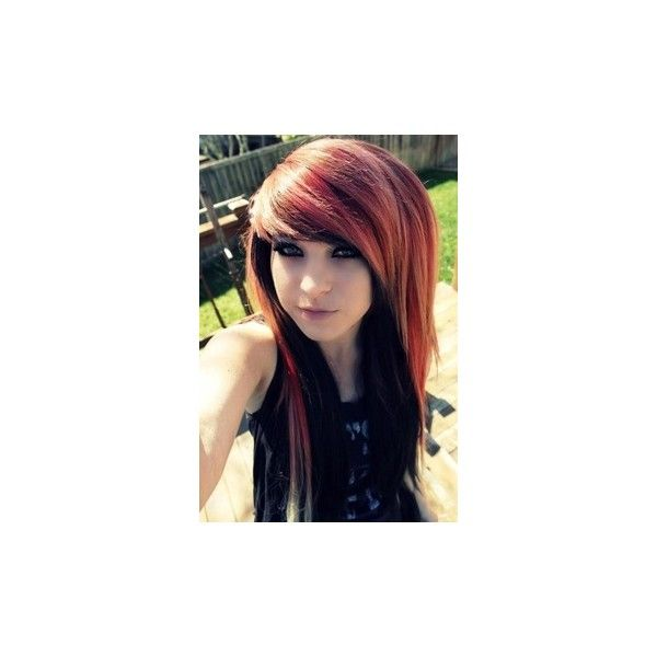 Emo/Scene 1 ❤ liked on Polyvore featuring hair, people, girls, pictures and anons