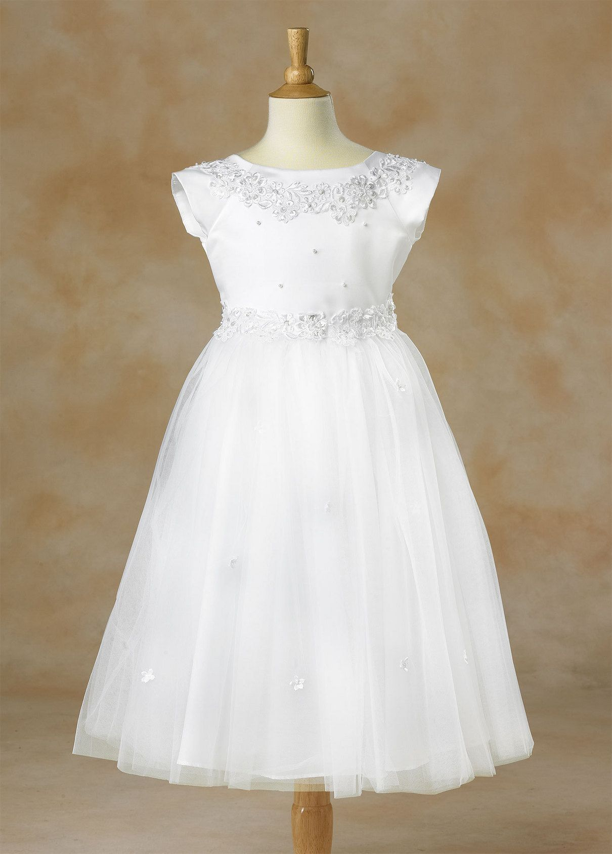 1102 - Sequins and Pearls dress | LDS Baptism Dress and hair dos ...