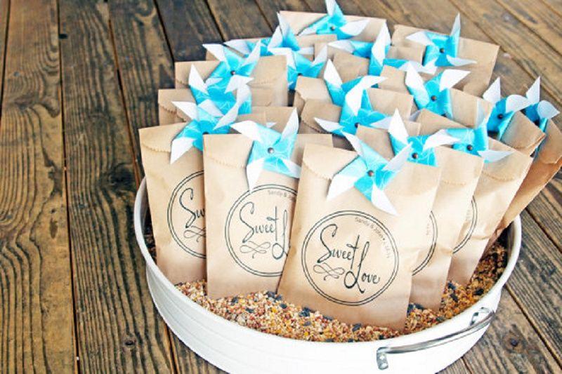 Kraft Bag Wedding Favors Sweet Love Design Custom Names Included On Favor Anniversary 25 Bags