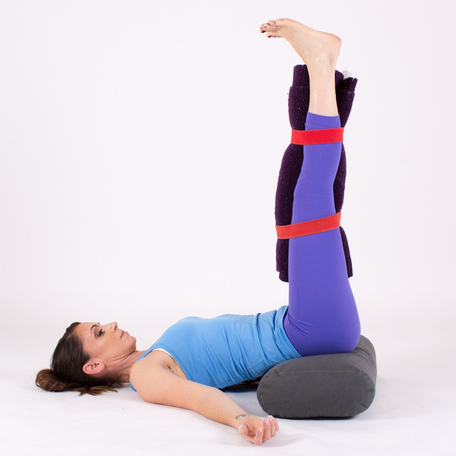 Legs Up The Wall With Bolster
