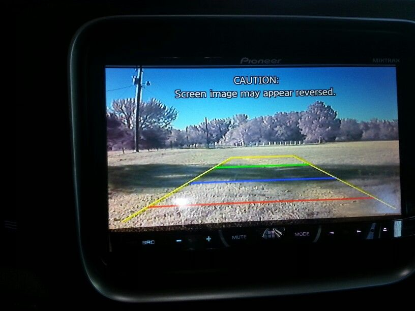 Installed an aftermarket license plate backup camera to my