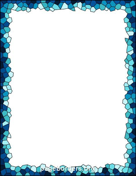 Good Printable Mosaic Border. Use The Border In Microsoft Word Or Other Programs  For Creating Flyers Nice Ideas