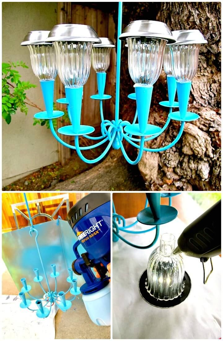 60 easy diy chandelier ideas that will beautify your home diy how to make a solar light chandelier 60 easy diy chandelier ideas that will beautify arubaitofo Choice Image