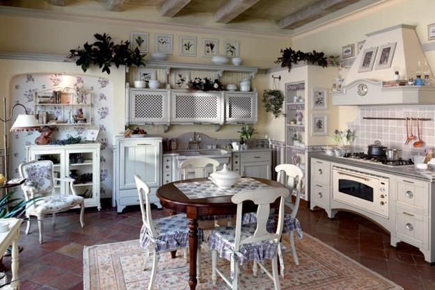 French country home decorating ideas for kitchen decor SHABBY CHIC