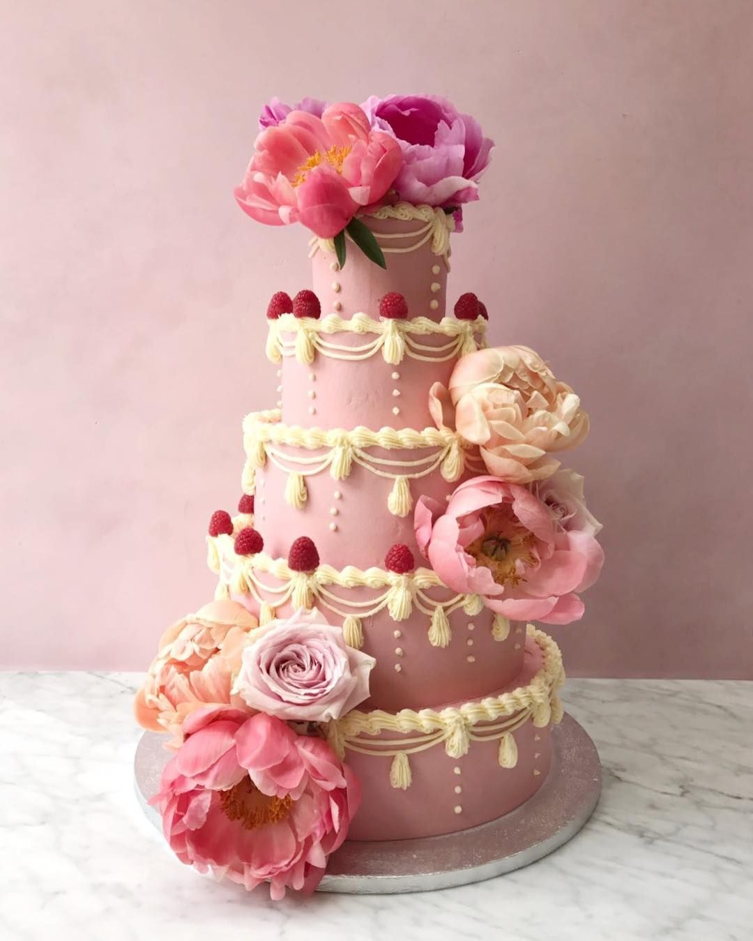 Stunning Marie Antoinette inspired cake for a wedding this weekend ...