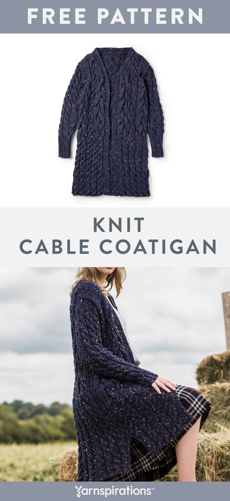 Free Knit Pattern   Knit a classic cabled coatigan, perfect for ...