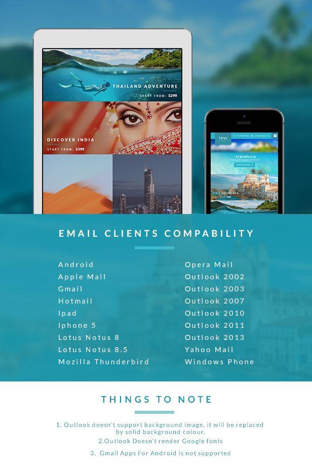 Travel & Hotel Responsive Newsletter + Online Builder Access ...