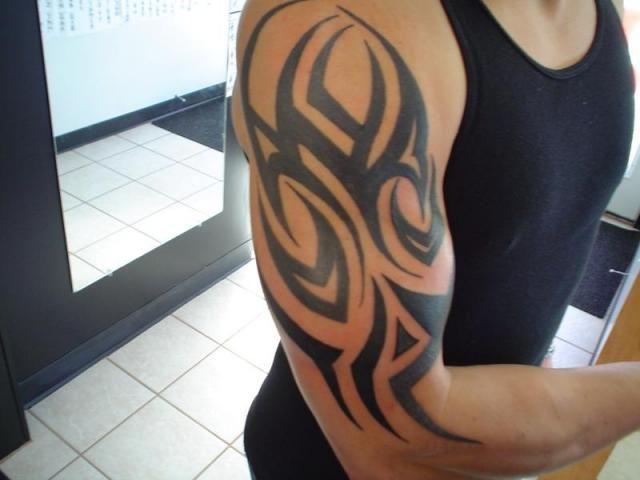 Tribal Half Sleeve Tattoo Designs Half Sleeve Tattoo Half Sleeve Tattoos For Guys Simple Shoulder Tattoo