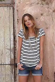 Anthropologie - Striped Marin Tunic sale $30
