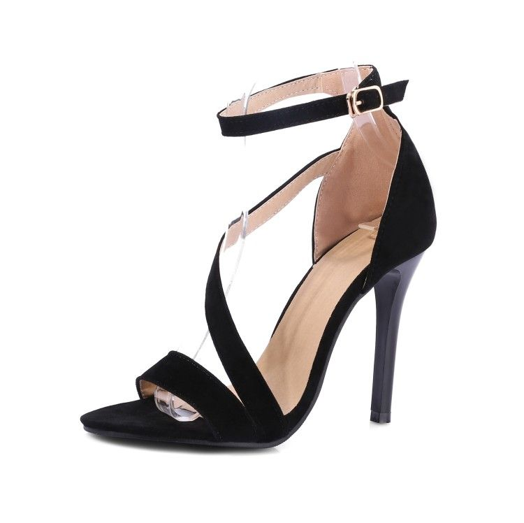 77938ec5856 Price tracker and history of LLOPROST KE Fashion Women Pumps Women Shoes  Buckle High Heels Open Toe Sapato Femininos sexy Wedding shoes big size 43