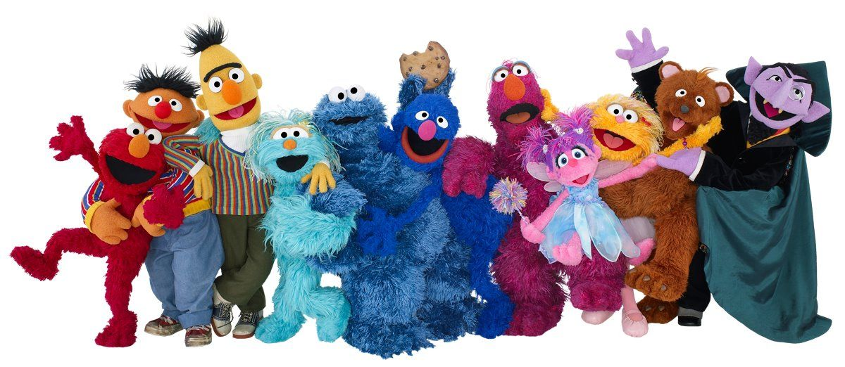 Love this wonderful image of the Sesame Street characters ...