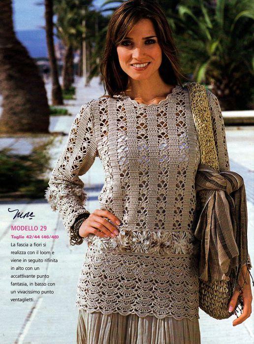 crochet summer sweater for beach | free chart