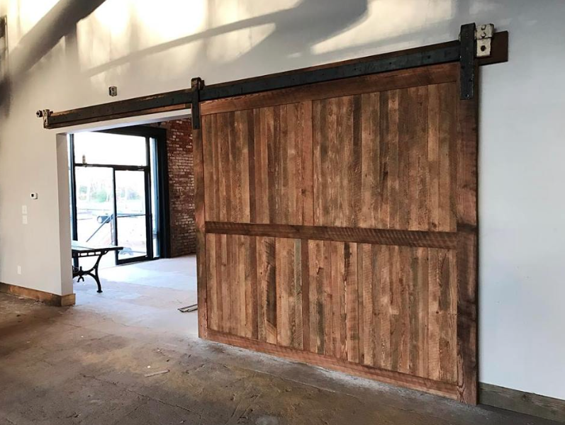 Reclaimed Wood Barn Doors Brewery Design Rustic Modern Old Wood Doors Sliding Doors La Wood Doors Interior Barn Doors Sliding Interior Sliding Barn Doors