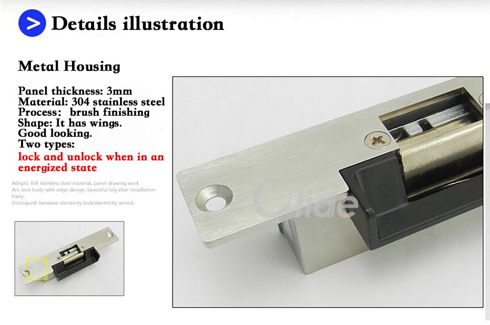 Electric Strike Door Lock 4 Door Locks Electricity Lock