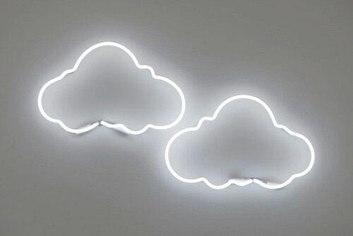 Clouds Grunge Neon Неоновое освещение Неоновые вывески Неон