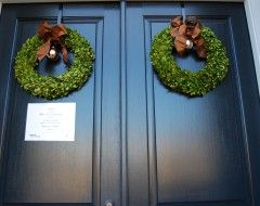 double door double boxwood wreath