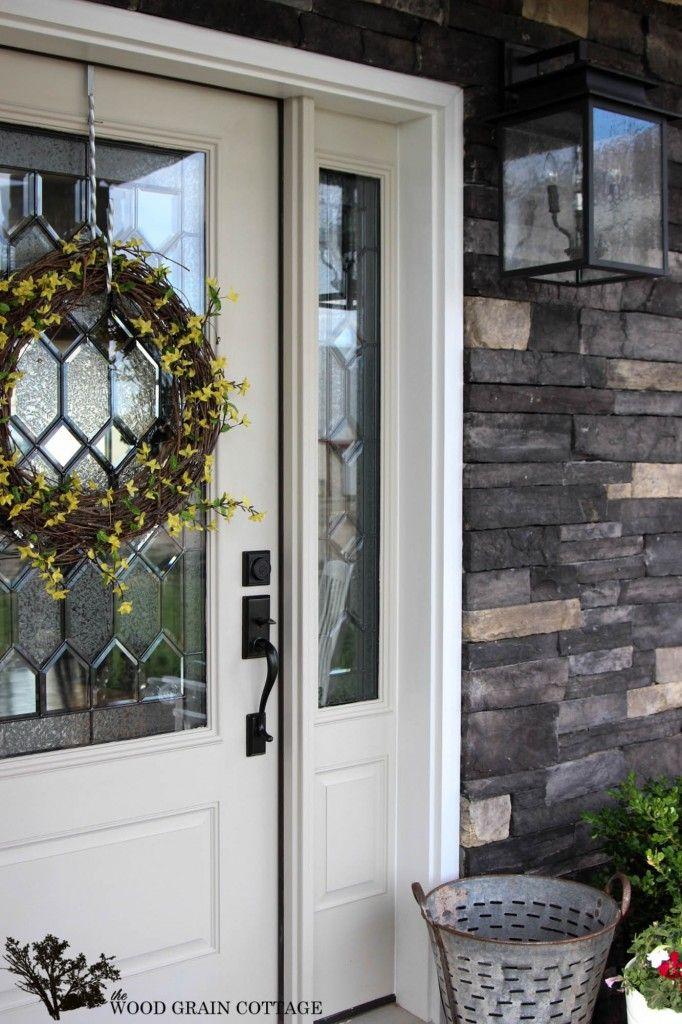 New Painted Front Door | Glass front door, Wood grain and Front doors