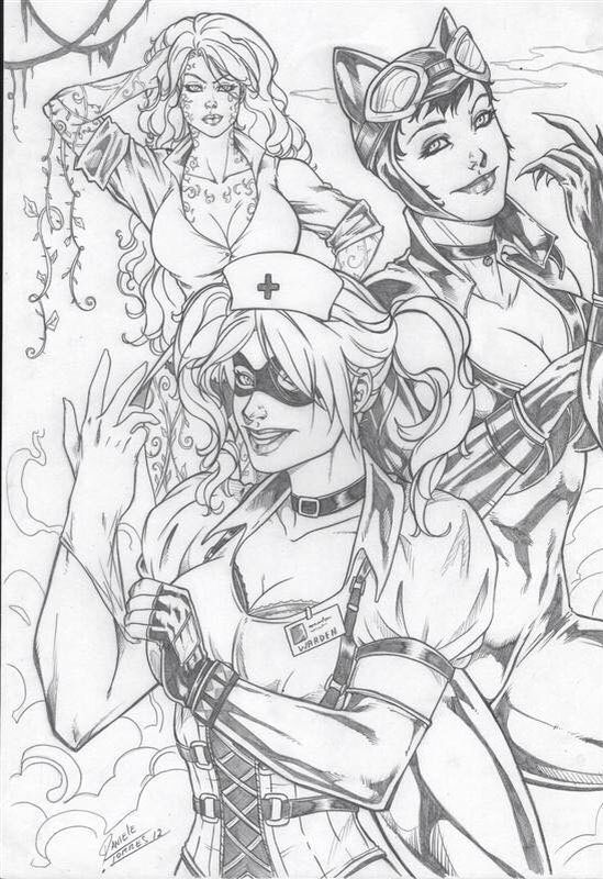 HARLEY QUINN  Coloring Pages  Pinterest  Harley quinn and Adult