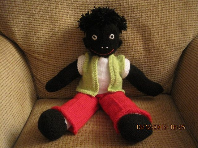 Knitted Golliwog Pattern : Pattern) Golliwog. knitting golly knitting crochet sewing Pinterest