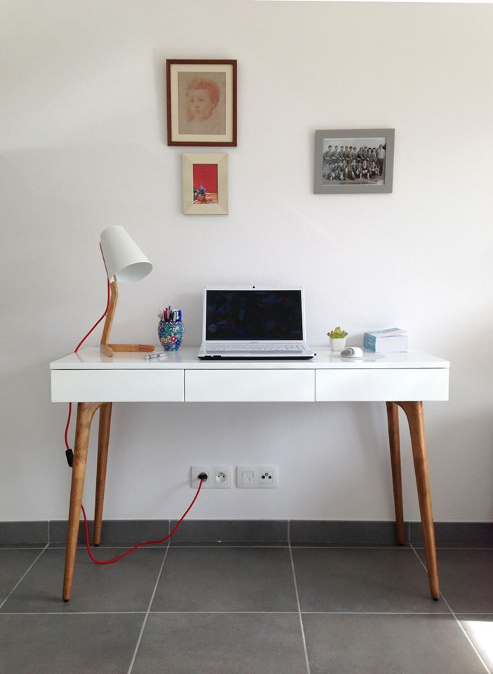 retrouvez la console bureau design natura bois blanc sur notre site http - Console Bureau Design
