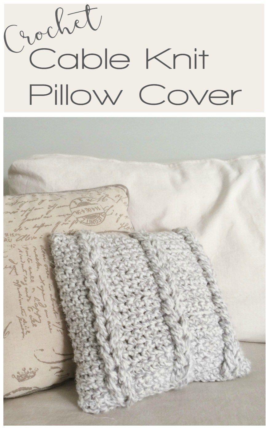 Crochet chain links pillow cover knit pillow free crochet and crochet cable knit pillow cover free crochet pattern bankloansurffo Images