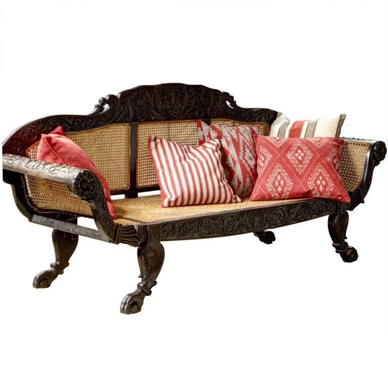 Anglo Indian Ebony Sofa 1stdibs Com House Furniture Design British Colonial Decor Vintage Sofa