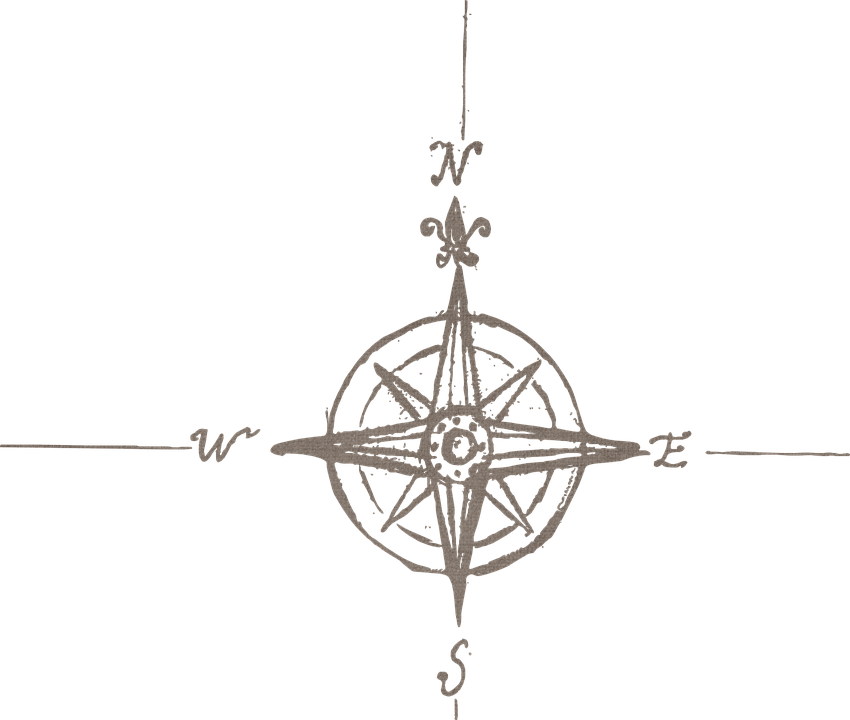 Free Image On Pixabay Compass North South Direction Compass Rock Painting Designs Vintage Map