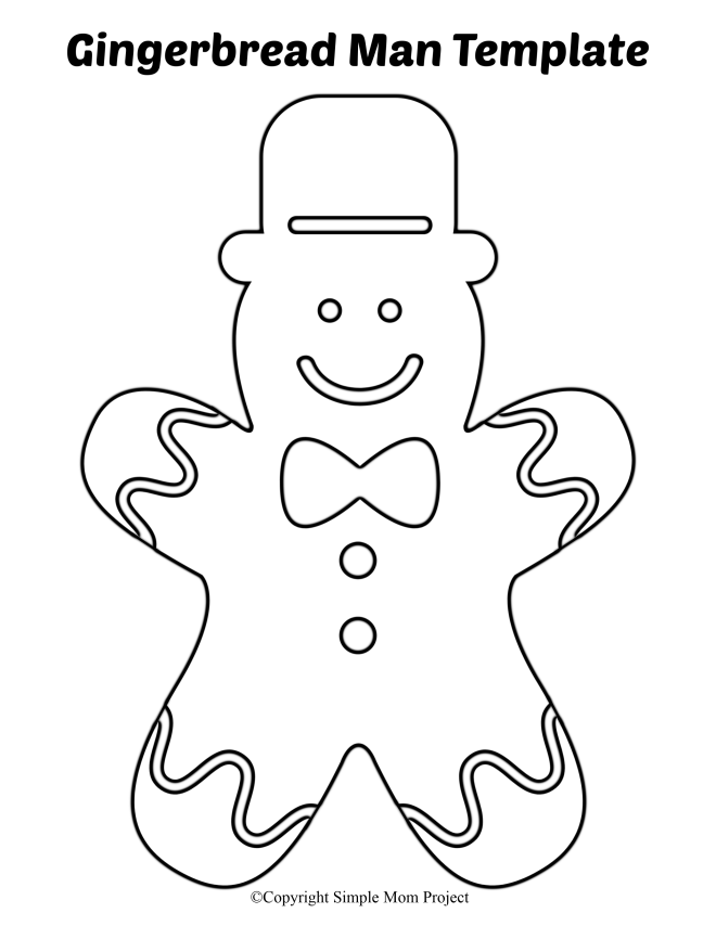 8 Free Printable Large And Small Gingerbread Man Templates Gingerbread Man Template Gingerbread Man Christmas Coloring Pages