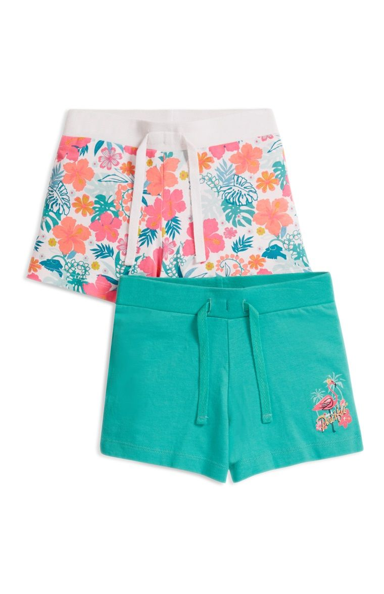 Primark - Green Floral 2 Pack Shorts ss16
