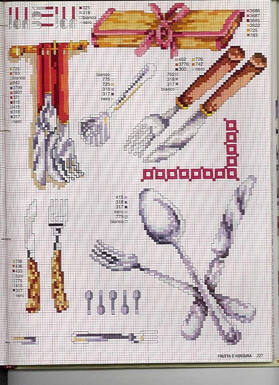 Cross stitch kitchen cross stitch kitchen pinterest - Punto de cruz cocina ...