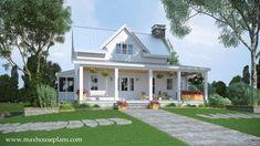 Modern Farmhouse Floor Plan with Wraparound Porch