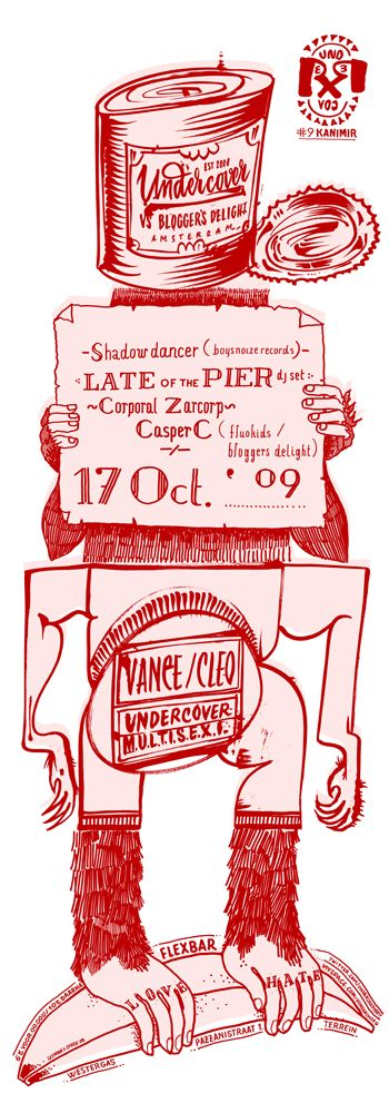 #Poster #ExquisiteCorpse - Based on dada-drawing-method exquisite corpse - Monthly posters by Letman for Undercover