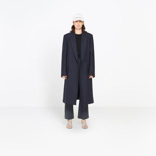 BALENCIAGA MASCULINE COAT |Classic masculine coat with large lapel