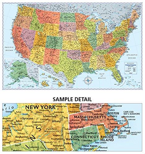 rand mcnally signature united states wall map laminated on laminated wall maps id=14519