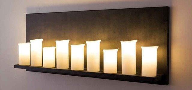 Kaarsen Wandlamp. Op maat leverbaar. Collectie Robers. www.devaanacc.nl