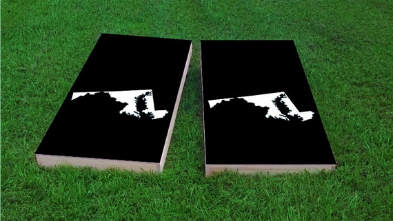Superb Maryland State Cornhole Board Set With Bags Custom Corn Ocoug Best Dining Table And Chair Ideas Images Ocougorg