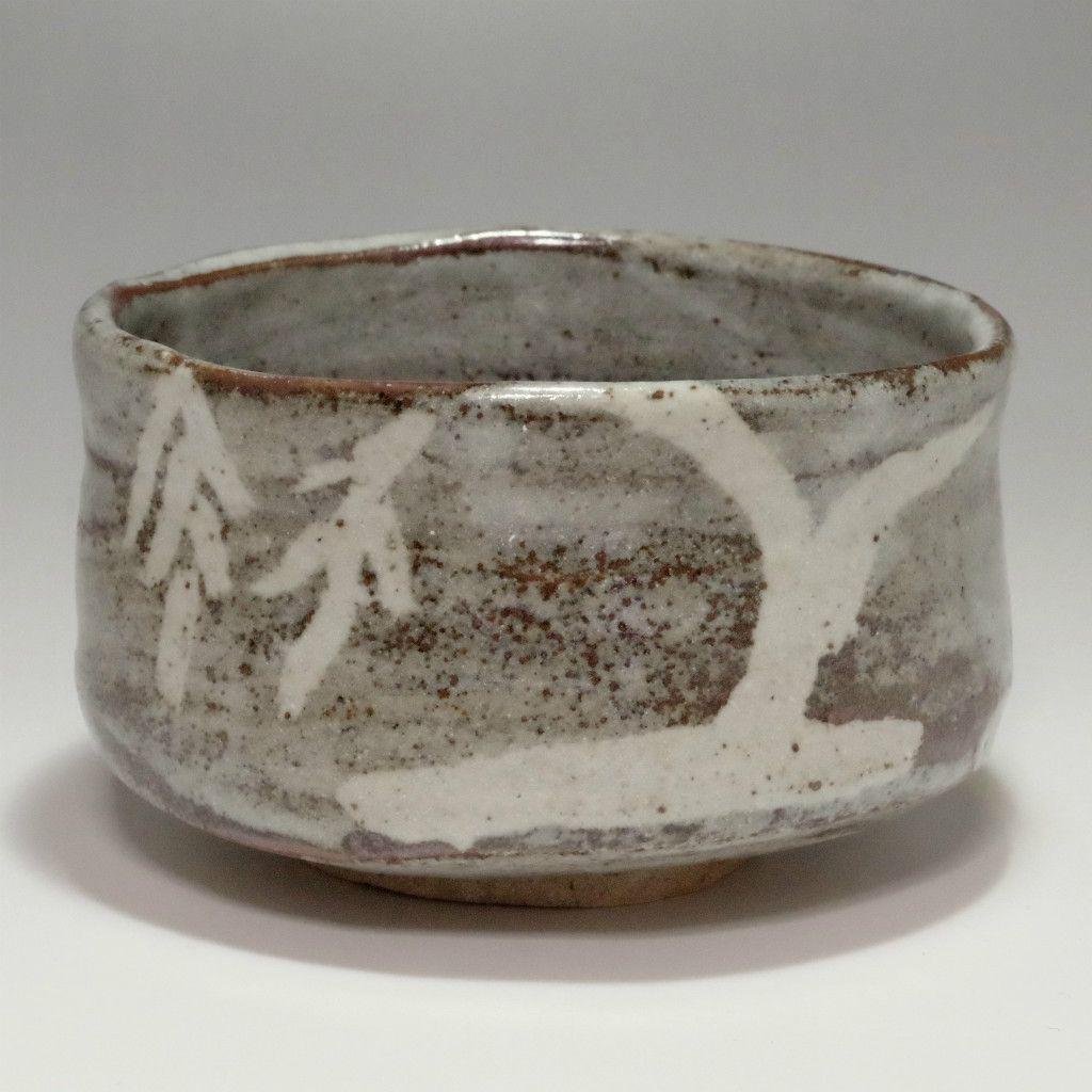NEZUMI SHINO CHAWAN - Modern Gray Japanese Crackle Glaze Pottery Tea Bowl #2136 - ChanoYu online shop
