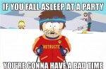 Falling Asleep at Parties    See more funny pics at killthehydra.com!