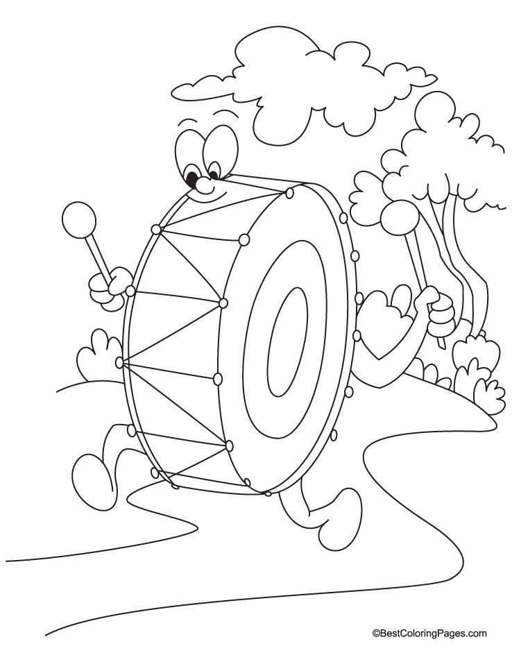 Drum Coloring Page Download Free Drum Coloring Page For Kids