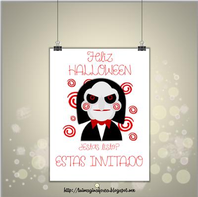 Invitaciones Para Halloween Gratis Saw Juego Macabro Halloween