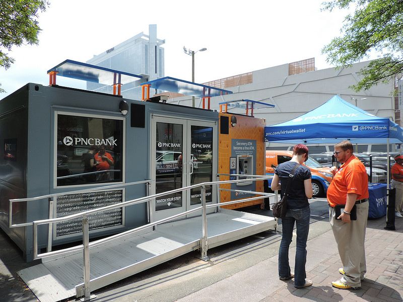 PNC Pop Up Branch | Container Data Center, Bank ATM's