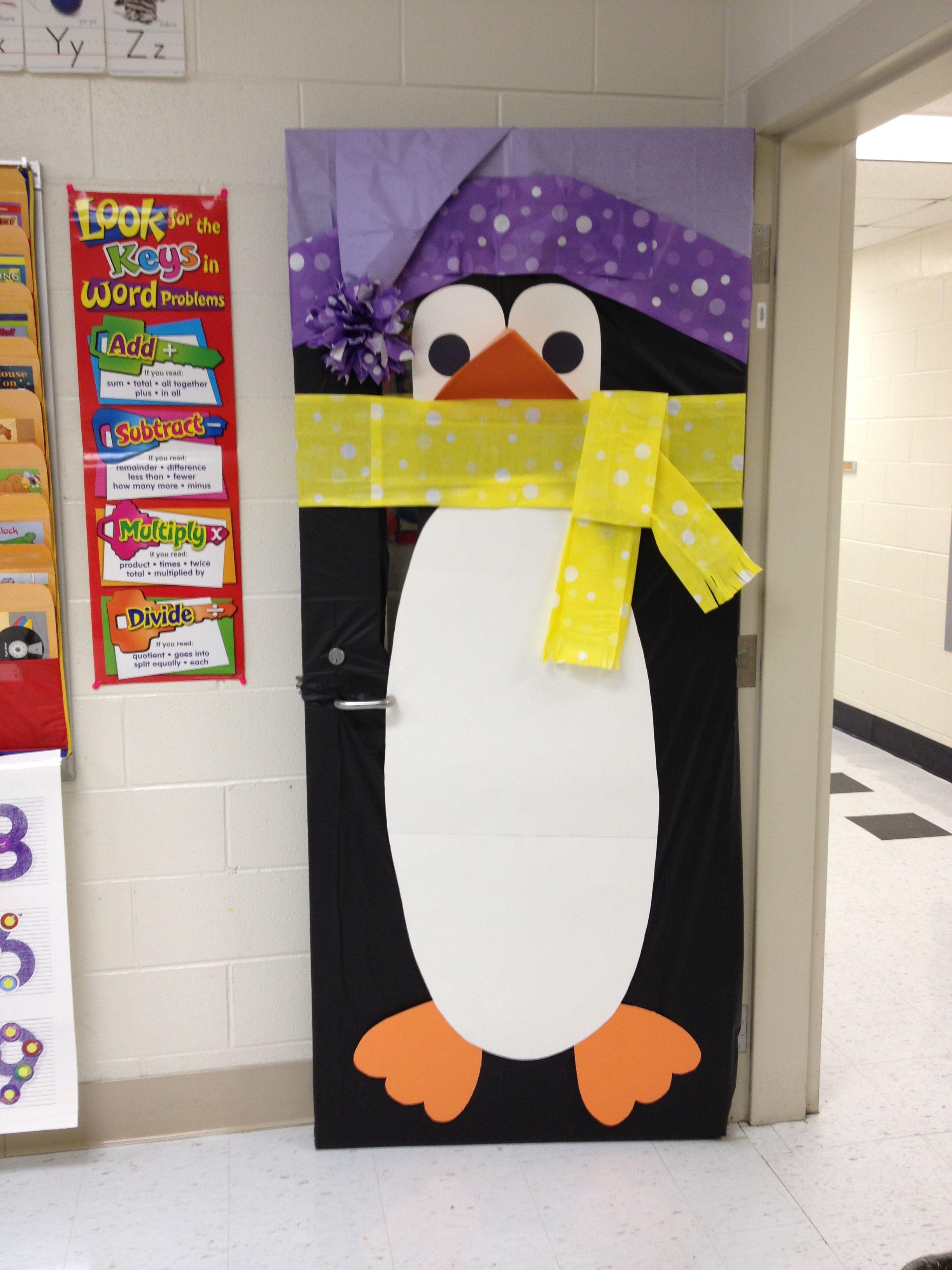 winter door decoration