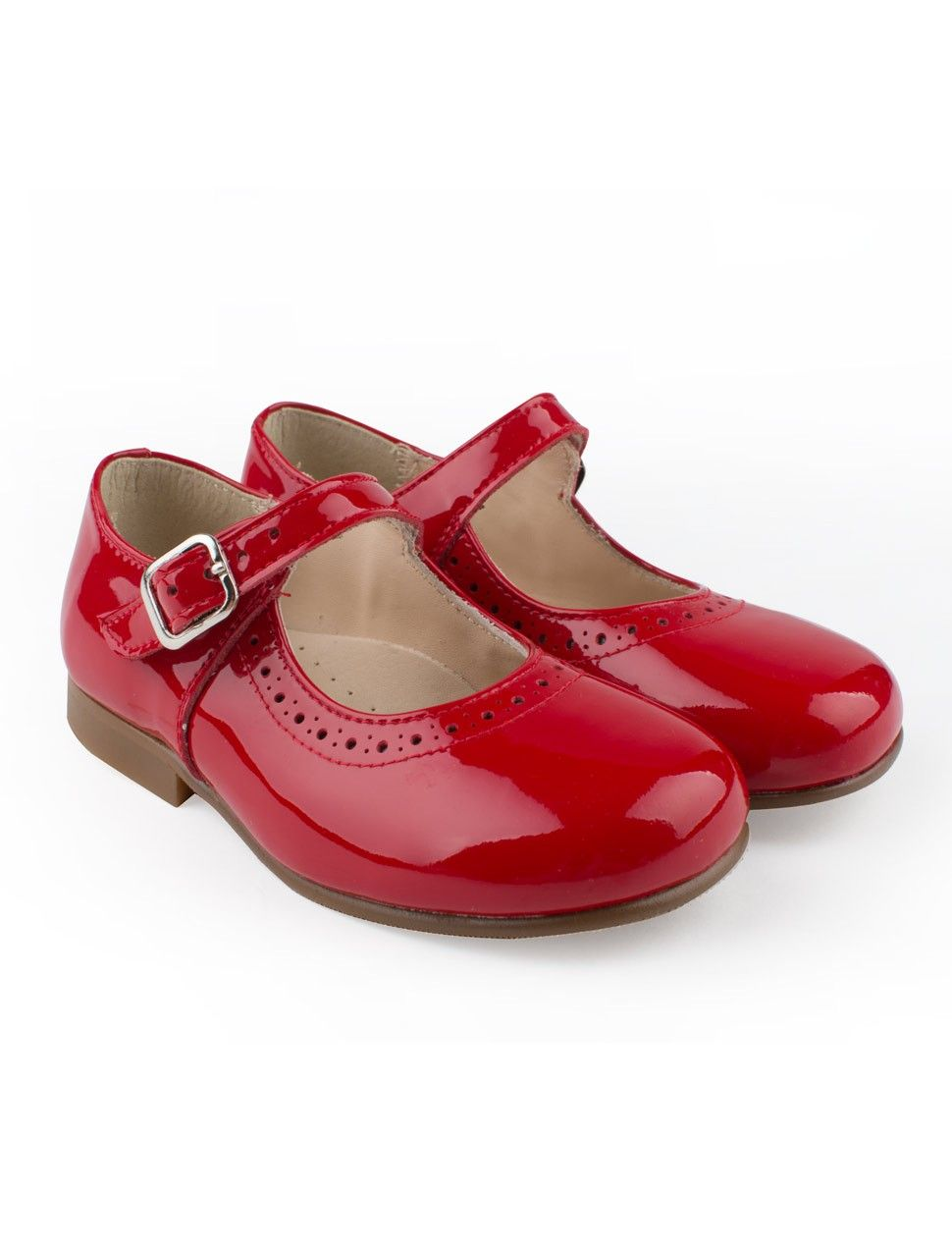 c138d17dd62cf Red patent leather classic brogues girls shoes with buckle from Eli ...