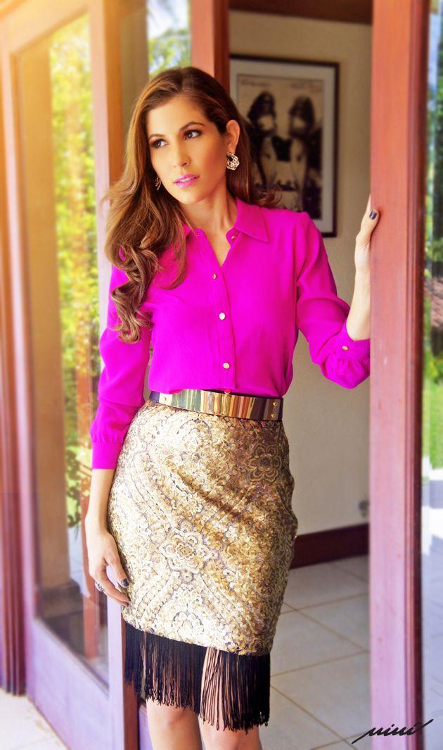 Con Look de Niní Fashion Style + accesorios de Fassino joyería  http://ninifashionstyle.com/index.php/489-nueva-coleccion-franjas-lentejuelas
