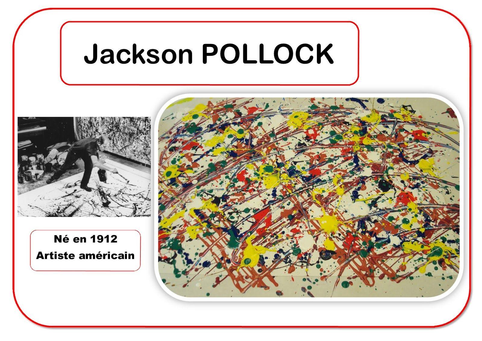 Fabulous Jackson Pollock - Portrait d'artiste | Ecole arts visuels  KS88