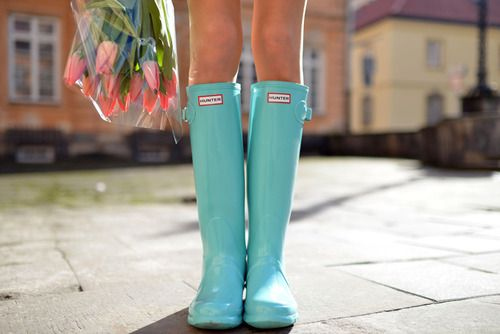 Hunter Boots in the summer.