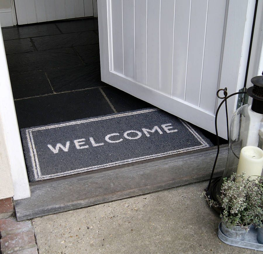39 welcome 39 doormat by red lilly for Welcome home front door mats