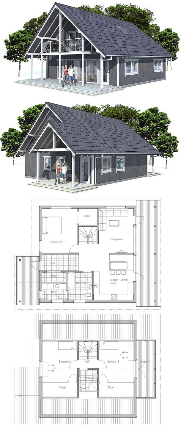 Small House Ch45 House Plans Small House Plans House Layouts